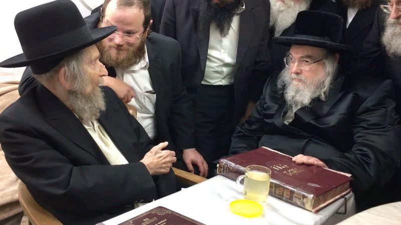 The Belzer Rebbe met Rav Shteinman