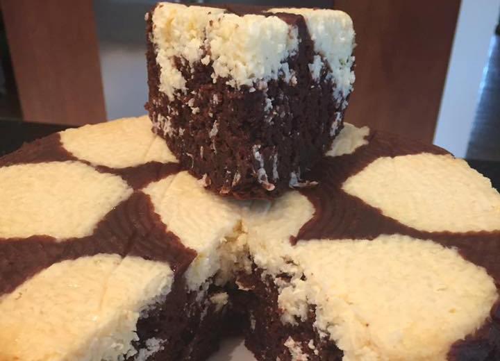 עוגת שוקולד ריקוטה וקוקוס ללא הקצפה