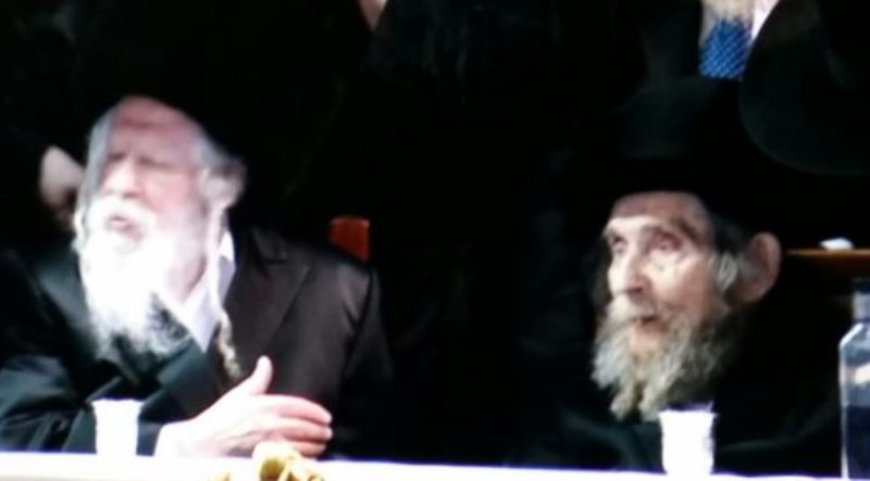 Rav Steinman at the Ger