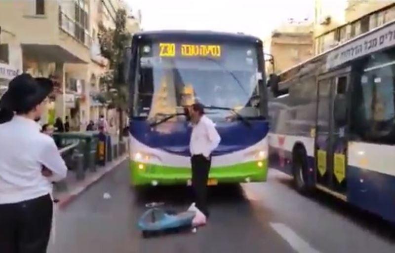 """חסם אוטובוס בב""""ב בגלל ש"""