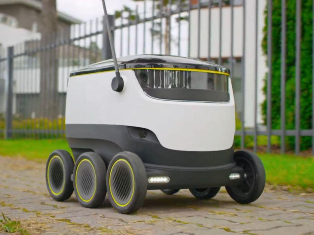 """שירות חדש בארה""""ב: שליח רובוטי עד הבית תמורת דולר"""
