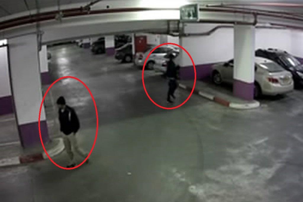 צפו: גנבי רכב נתפסו על חם בחניון