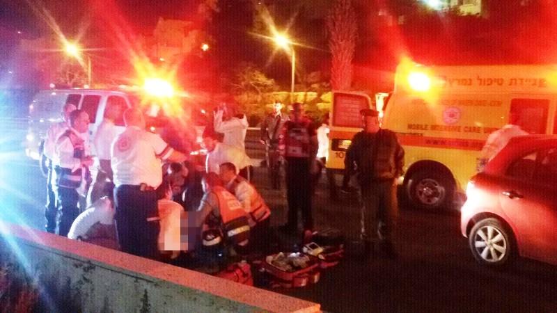 בצאת החג: 8 פצועים בתאונה בירושלים