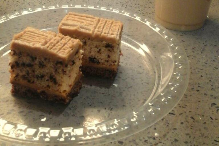 עוגה עם קרם קפה ואגוזים