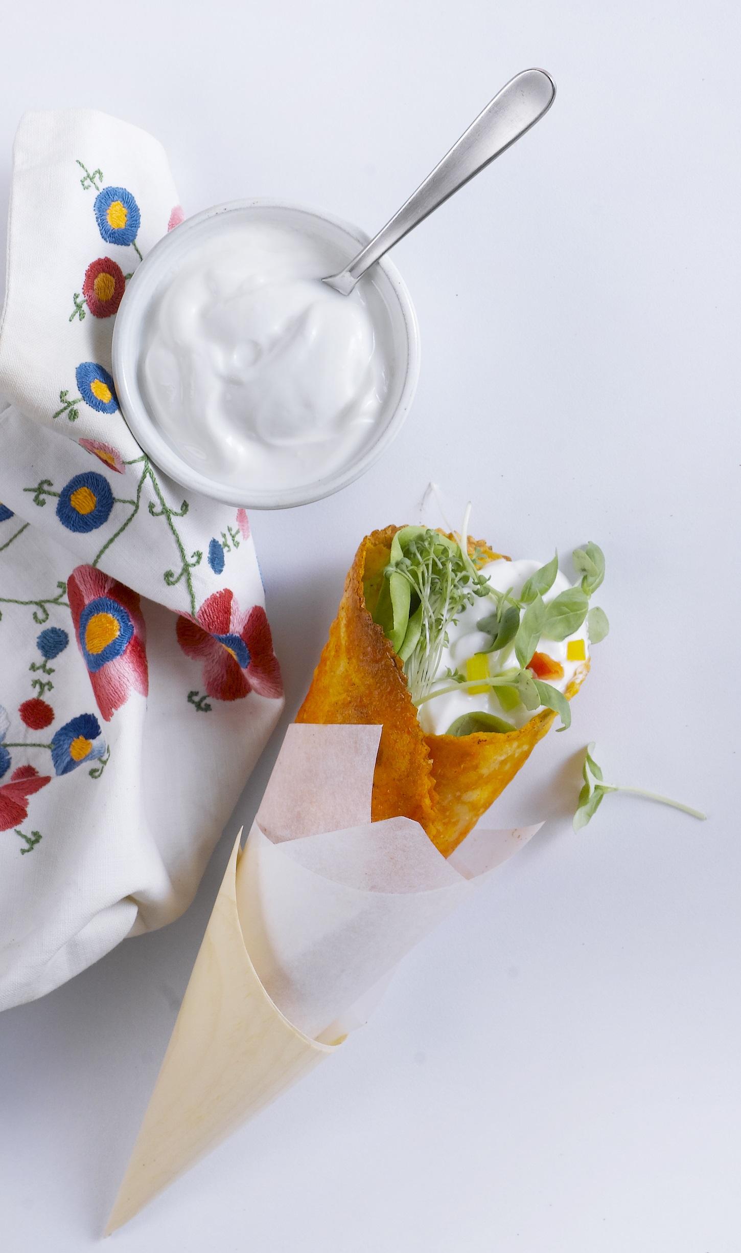 חיפשתם ייחודיות? קונוס טורטיה במילוי גבינות