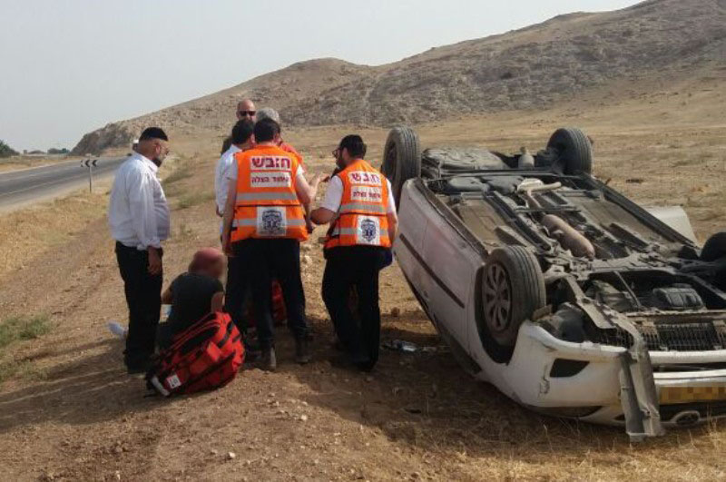 Father And 4 Children Miraculously Saved From Overturned Vehicle