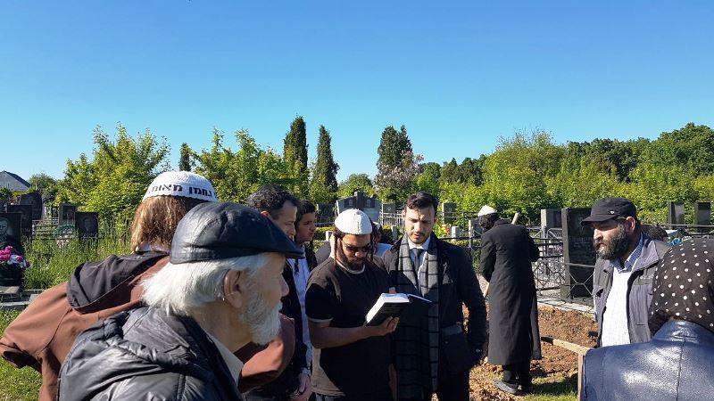 מת מצווה: ראש הקהל באוקראינה הובא למנוחות