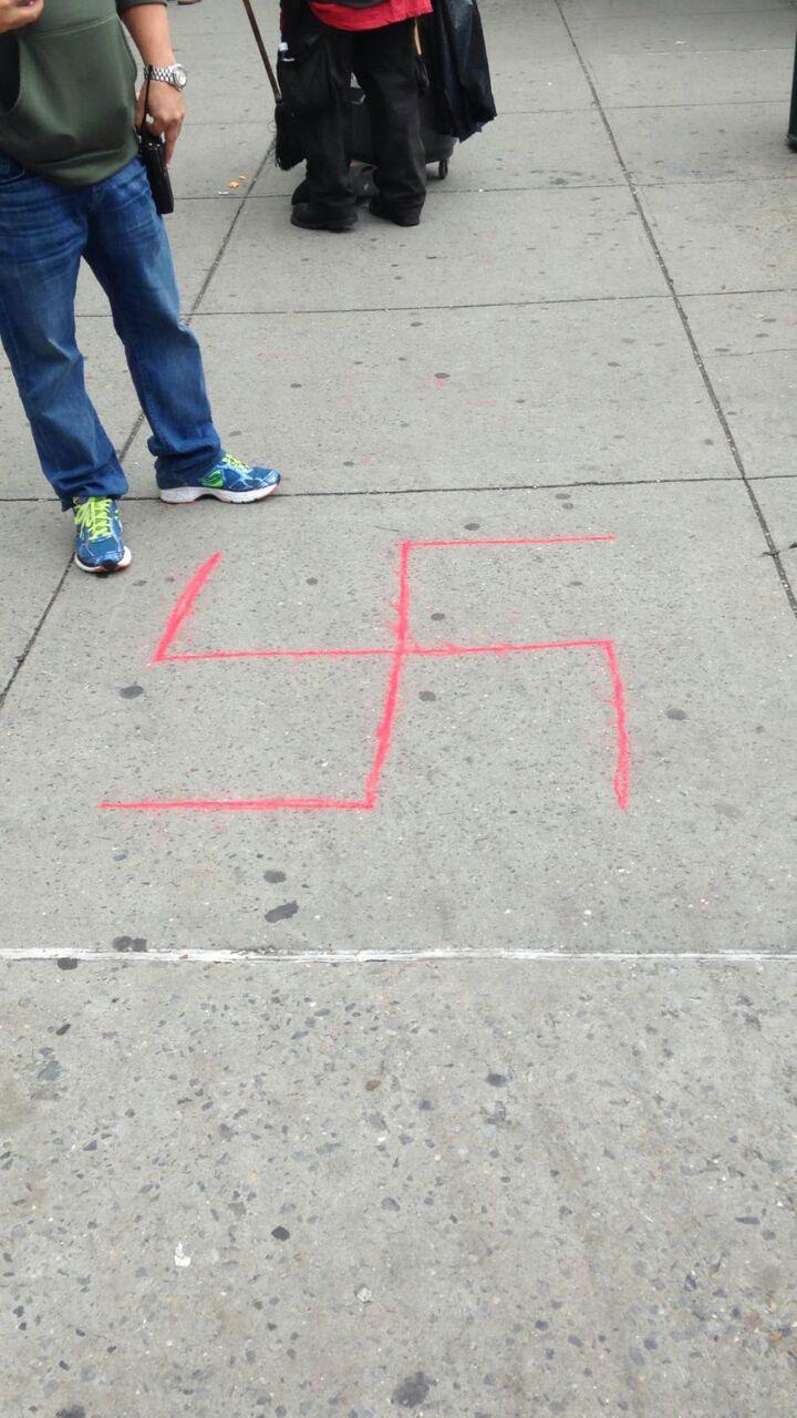המשטרה הוזעקה, האנטישמי המשיך לצייר