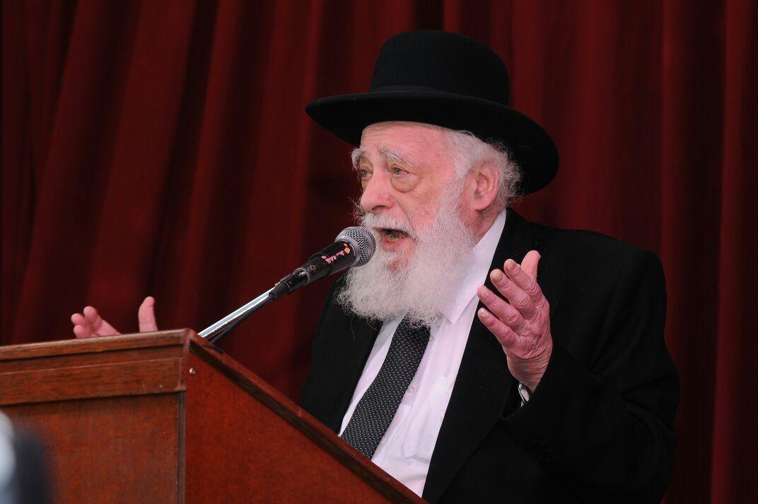 הרב לוין מארנגטינה ינאם בעצרת הגיוס