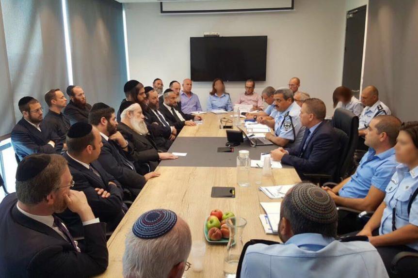 ובערת הרע: הנציגות החרדית והמשטרה נפגשו