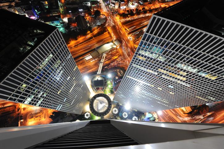 על גג העולם: גלריה מדהימה ממגדלי עזריאלי