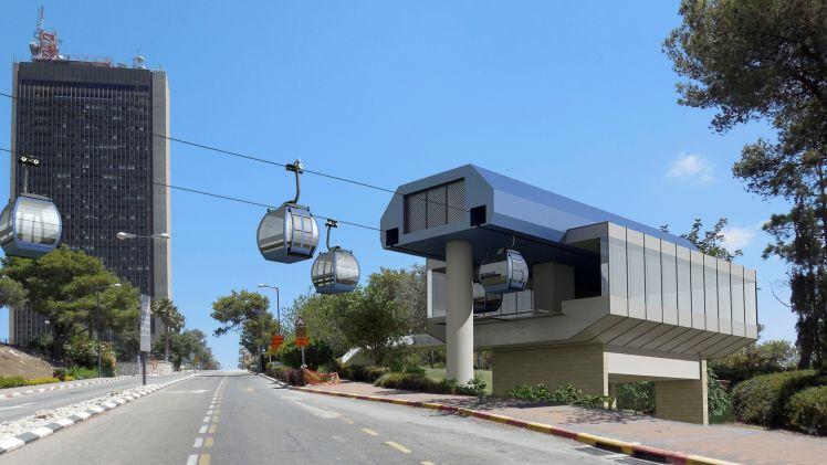 """ה""""אוטובוס"""" שירחף מעל לחיפה: פרויקט הרכבל יוצא לדרך"""