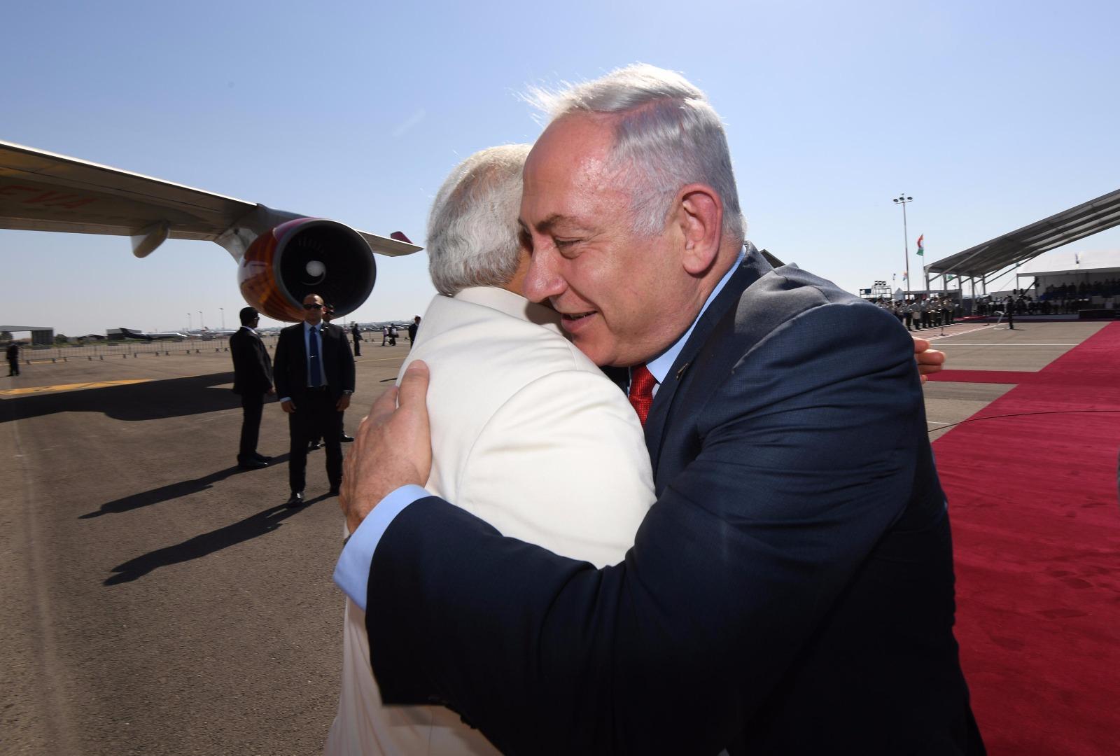 Historic Visit: Indian Prime MInister Lands In Israel