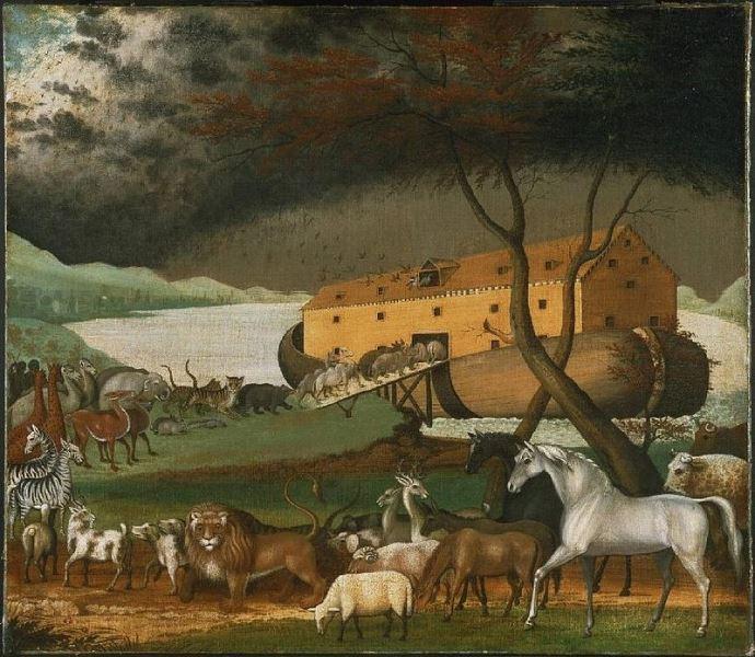 ציור תיבת נח של אדוורד היקס (1780–1849), קרדיט: noahs ark, ויקיפדיה