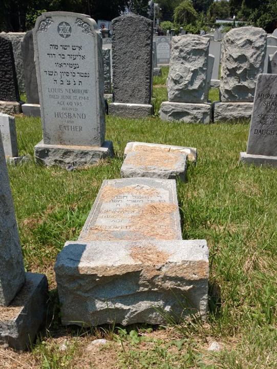 """תופעת פגיעה בקברים יהודיים בארה""""ב נמשכת"""