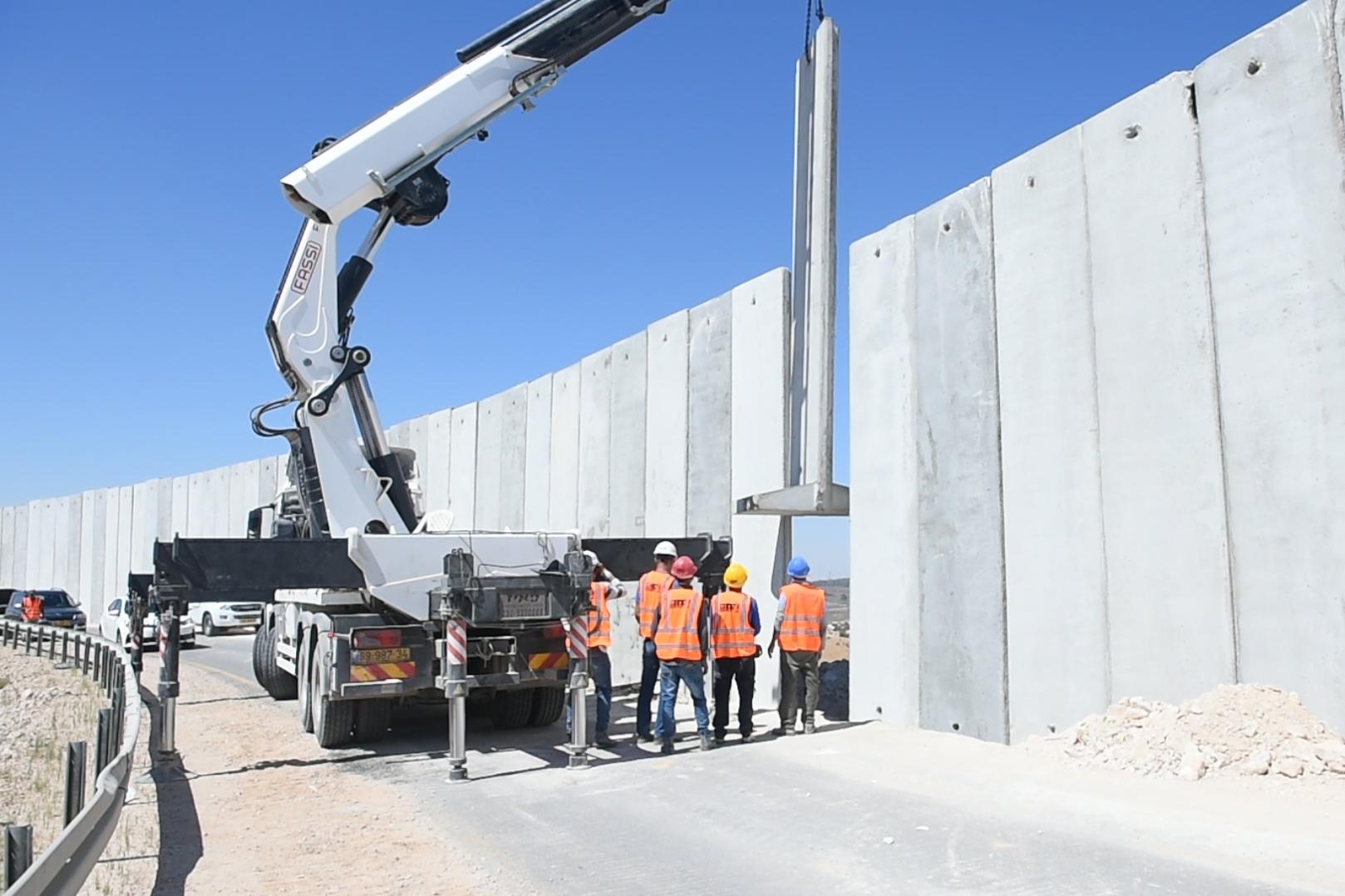 צפו בחלוקת הארץ בפועל: החומה הושלמה