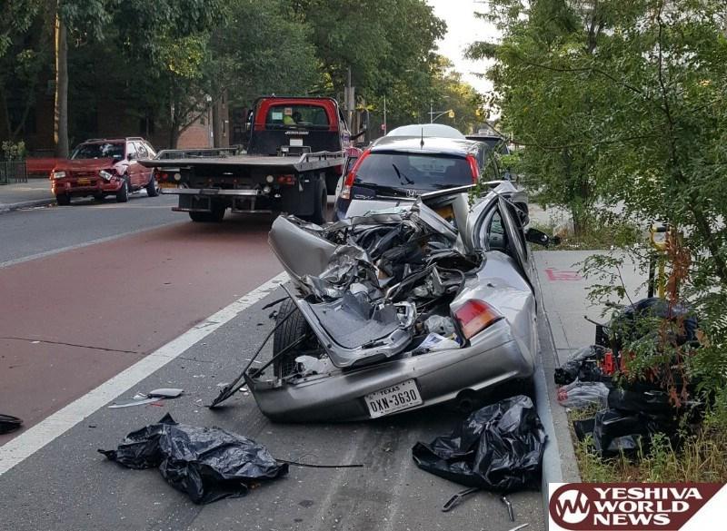 נס: המשאית כיסחה 12 רכבים - איש לא נפגע