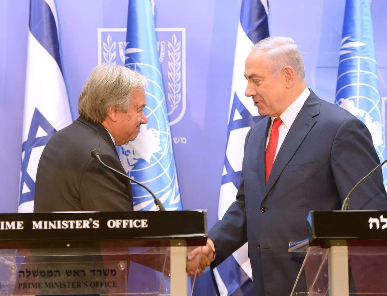 """נתניהו למזכ""""ל האום: """"על האו״ם לכבד את החוק בישראל"""""""