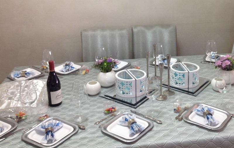 שולחן שבת באווירה אלולית רוחנית