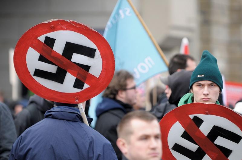 צעדת ניאו נאצים, צילום: רויטרס