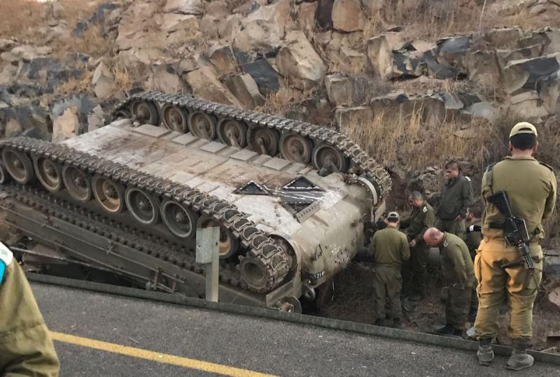 אסון ברמת הגולן: קצין וחייל נהרגו בהתהפכות רכב קרבי משוריין
