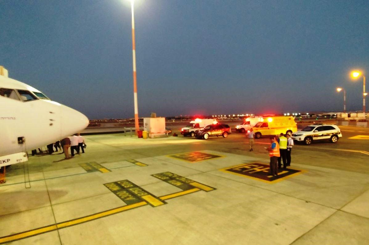 דרמה בשחקים: התעלפה והמטוס שב לישראל
