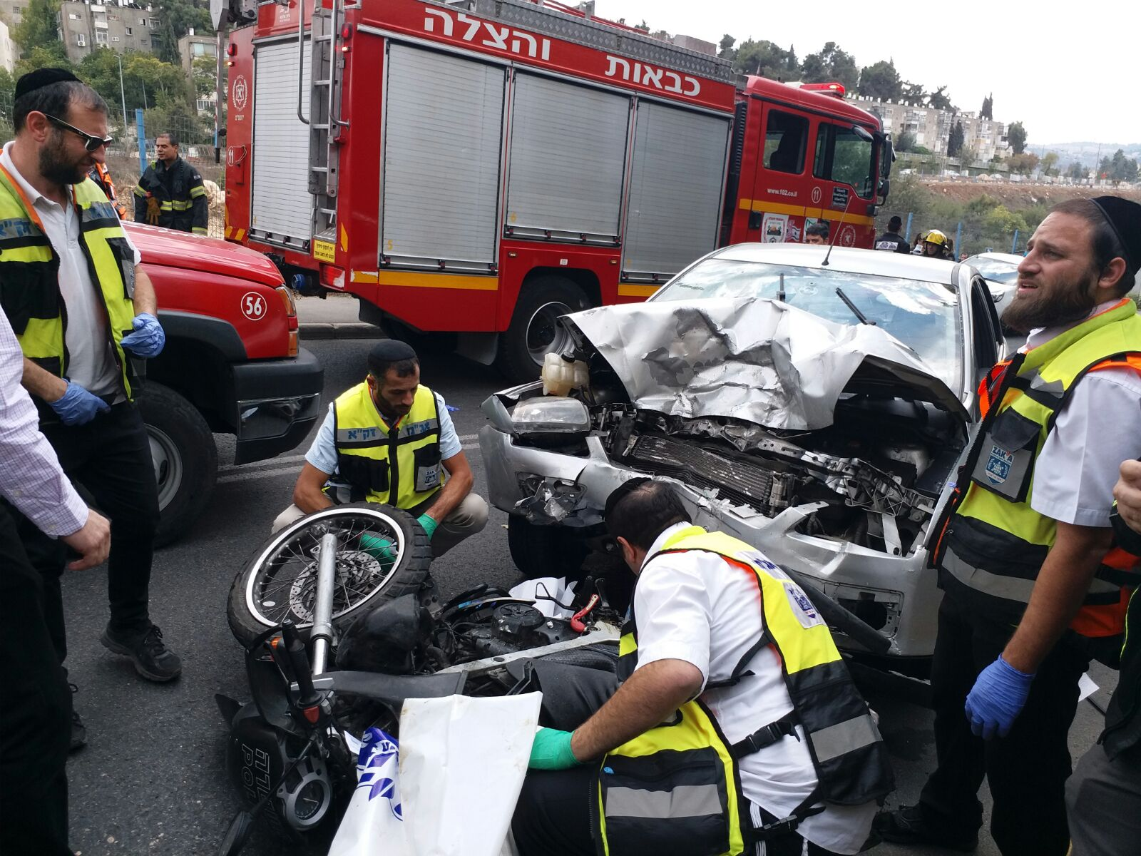הרוג ופצועים קשה ב-2 תאונות בירושלים