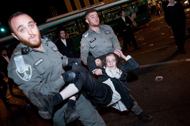 החסימות והמעצרים: הפגנת