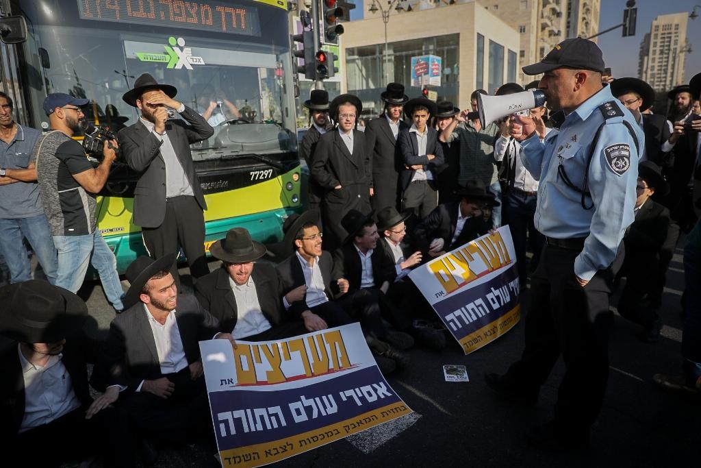 מחאות הפלג הירושלמי נמשכות בירושלים ובבני ברק: 57 עצורים