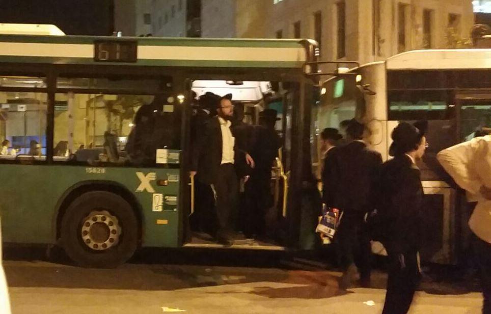 האוטובוסים שננטשו בהפגנה הפכו לשטיבלא