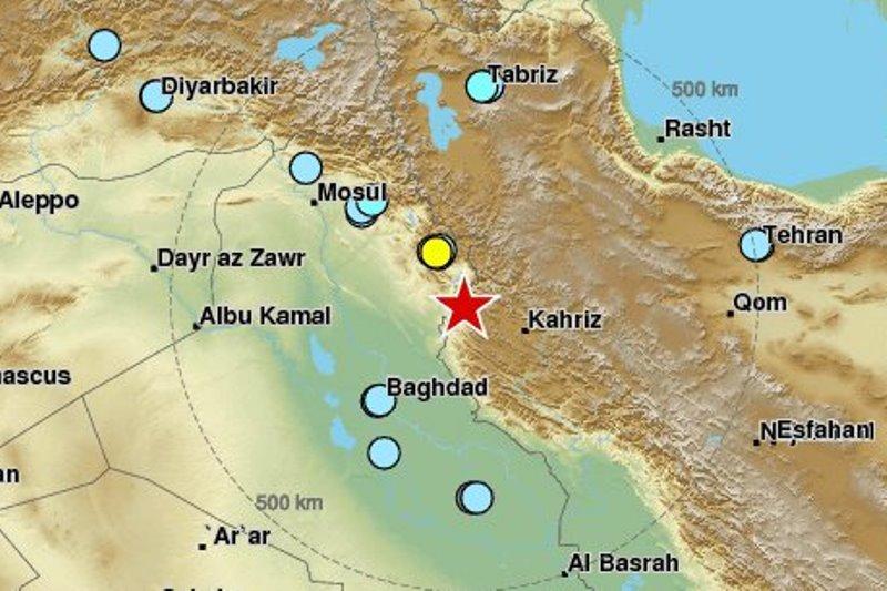 רעש אדמה בגבול עיראק - הורגש בישראל