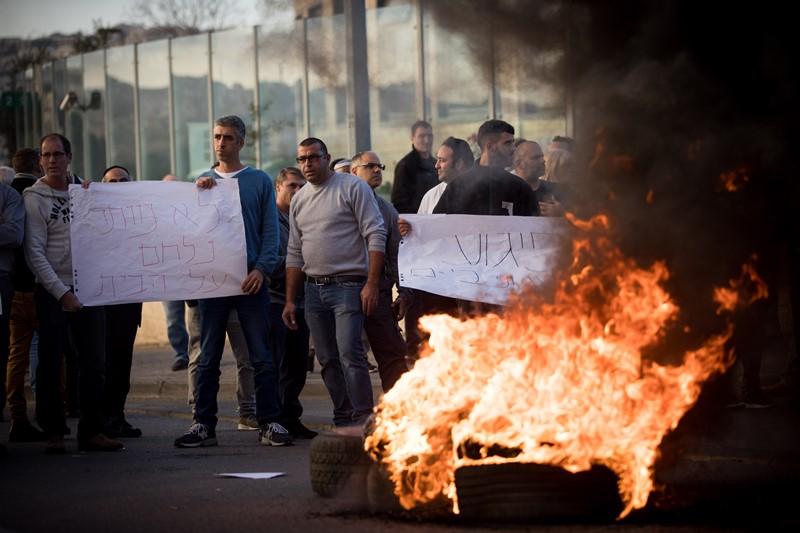 עובדי טבע מפגינים בירושלים. צילום: יונתן זינדל, פלאש 90