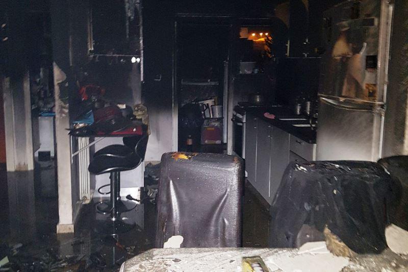 סוללת אופניים התפוצצה וגרמה לשריפה
