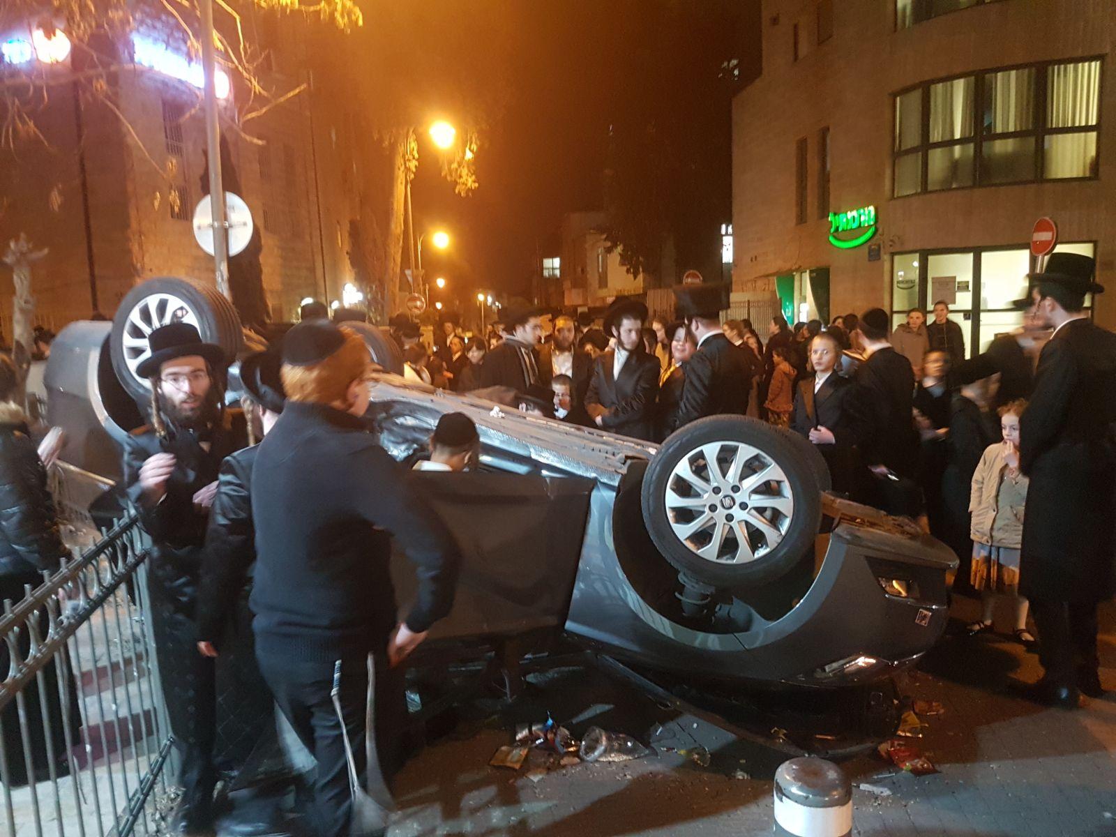 אטרקציה בגאולה: הרכב התהפך והנהג ניצל