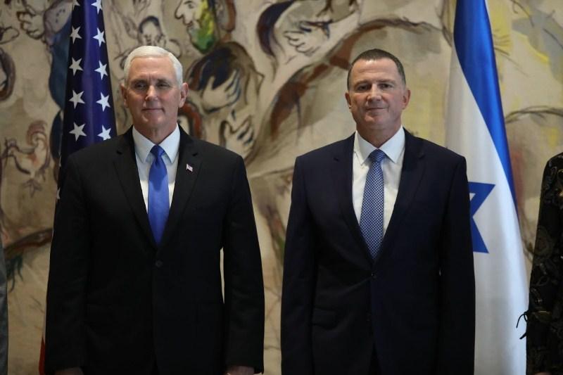 צפו • כשגפני וליצמן מחאו כפיים לסגן הנשיא האמריקאי