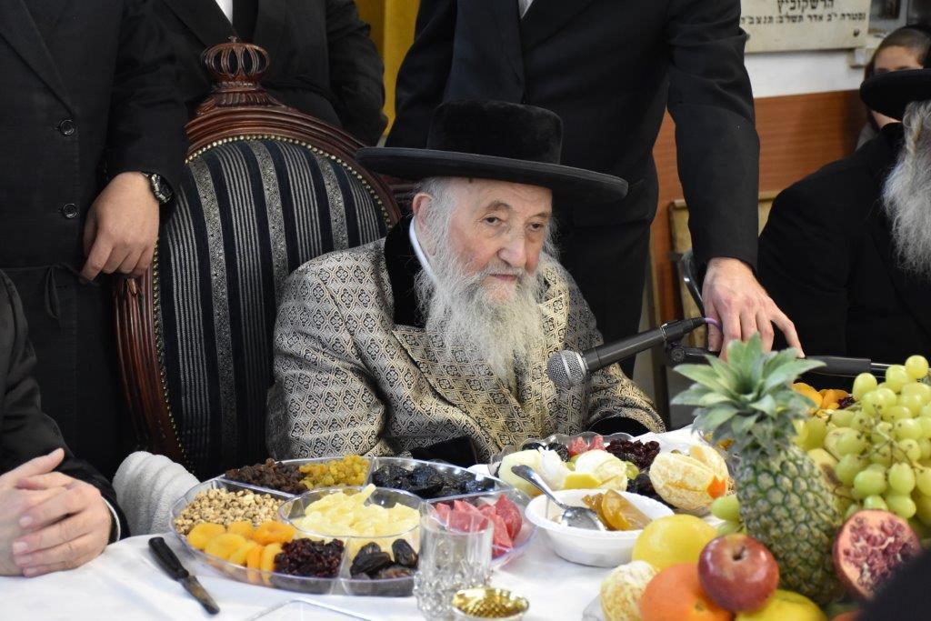 """זקן האדמו""""רים מספינקא ערך טיש פירות"""