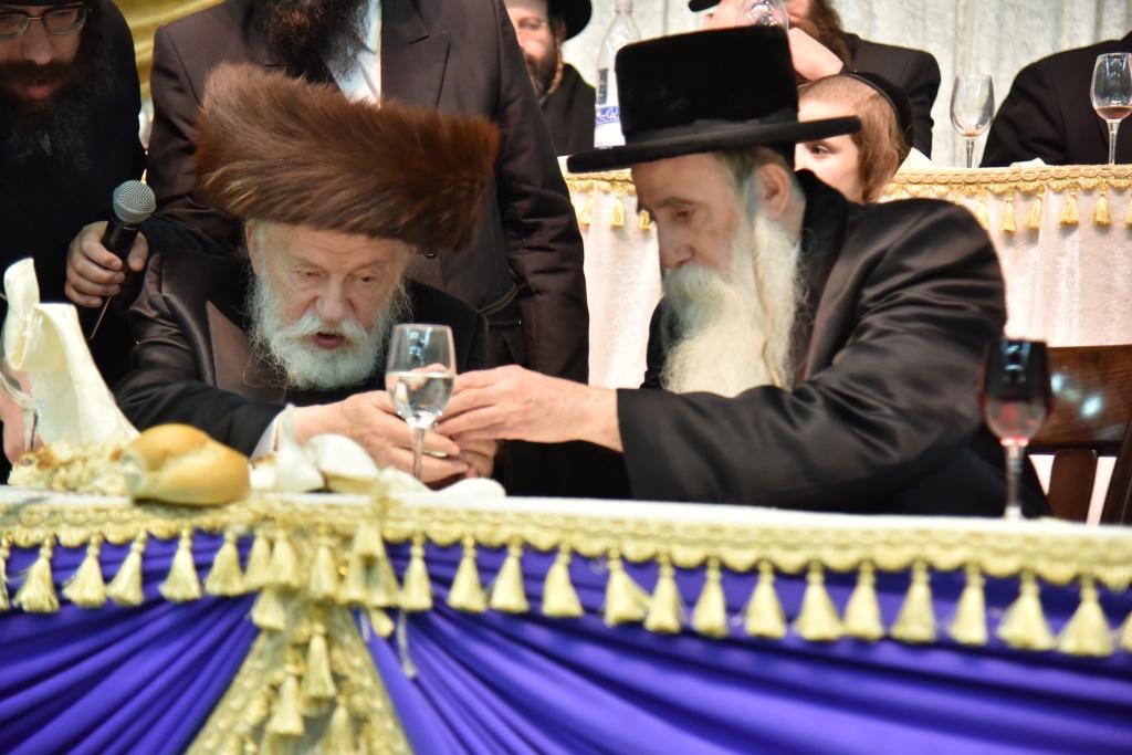 כבוד התורה ושבע ברכות: צפו בחגיגה של מכנובקא בעלזא