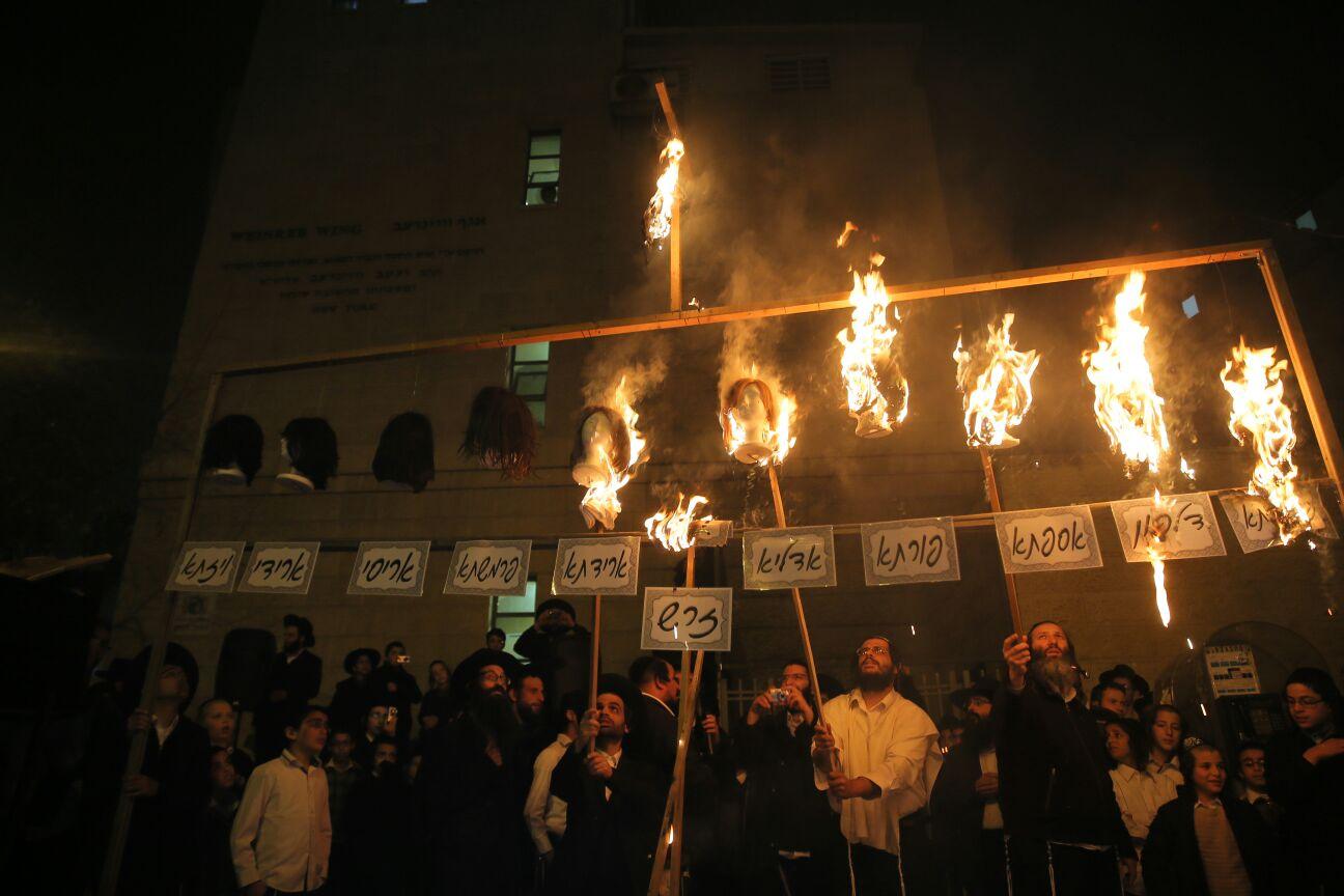 כמו עשרת בני המן: שריפת פאות בשמואל הנביא • תיעוד