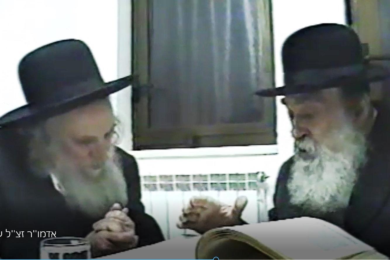 """וידאו: כשרבי שמואל והאדמו""""ר שוחחו בלימוד"""