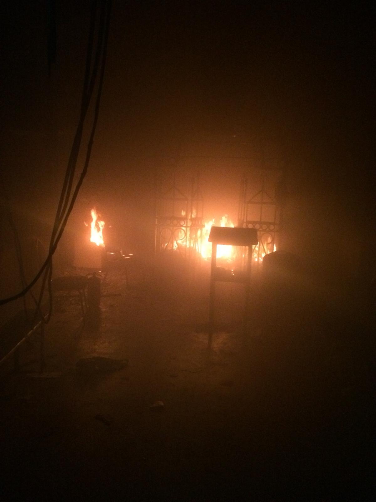 במוצאי ההילולא: הציון בליזענסק עלה באש