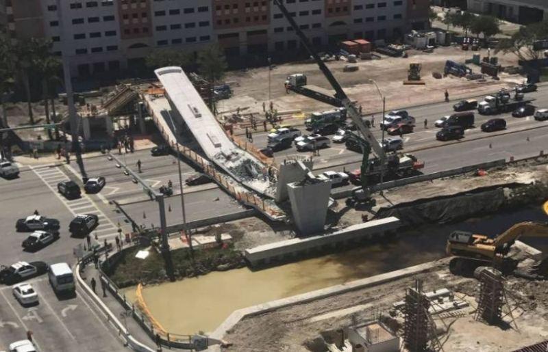 מיאמי: הרוגים בקריסת גשר חדש להולכי רגל