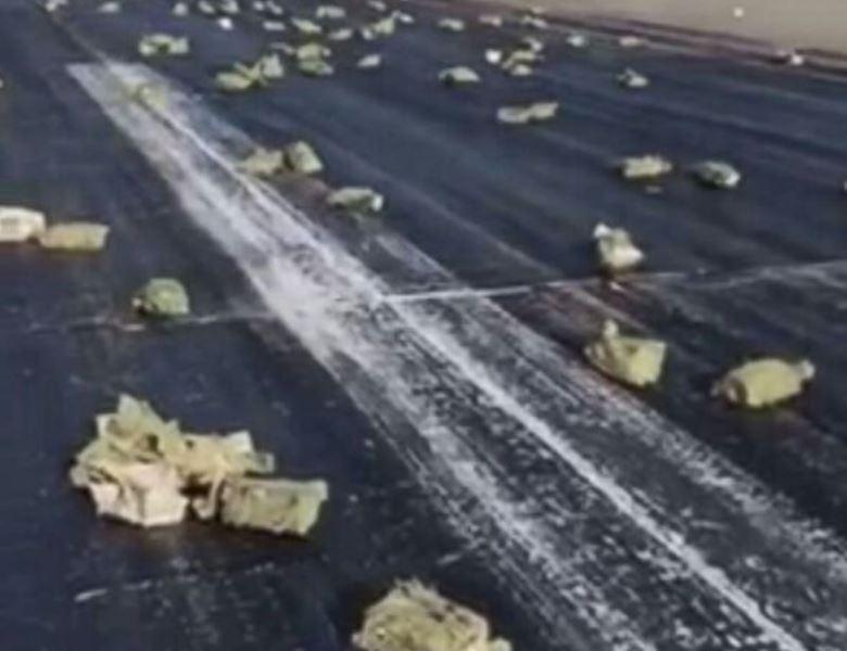 9 טון זהב נשפכו מהמטוס והוא חזר לשדה