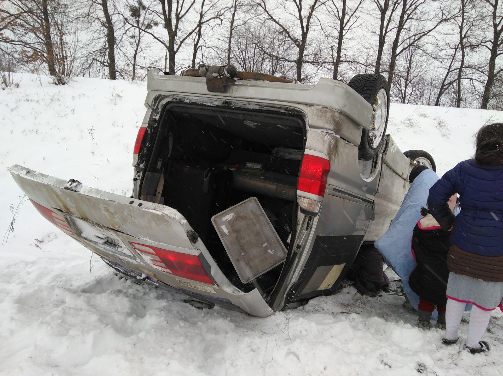 בגלל השלג: המשפיע התהפך עם רכבו בחזור מאומן