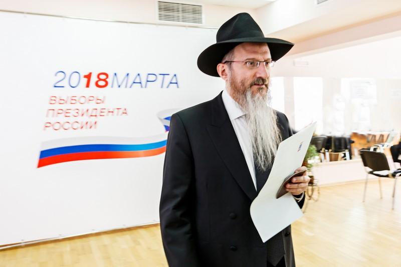 חובתו האזרחית: רבה של רוסיה הצביע לפוטין • צפו