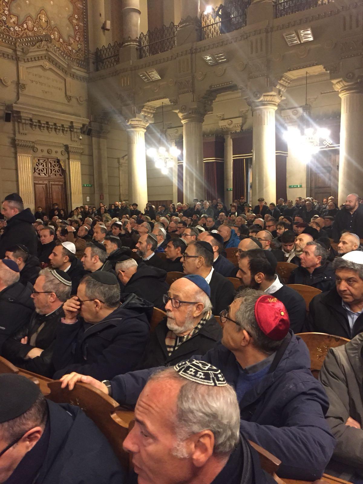 עצרת מחאה ברומא נגד האנטישמיות המוסלמית