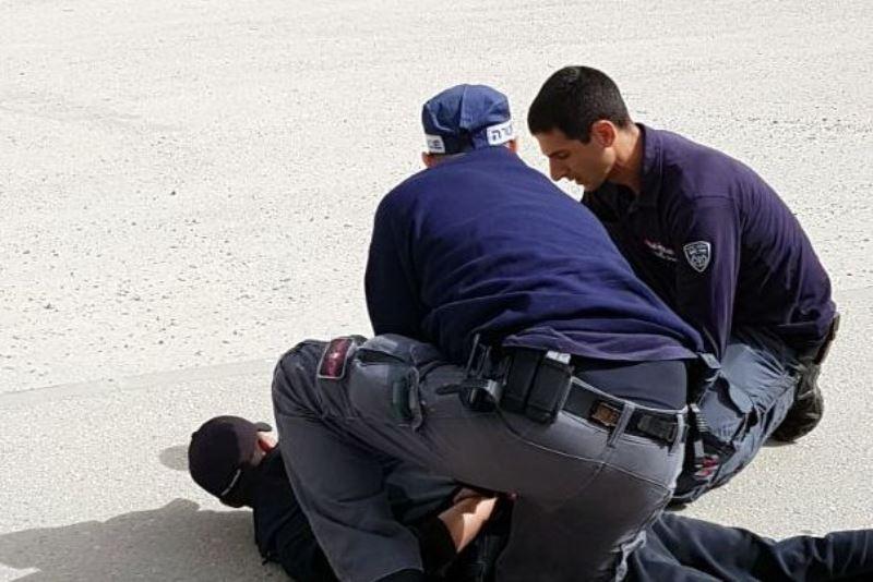 """תיעוד: מעצר החשוד שהתכוון לבצע פיגוע בב""""ש"""