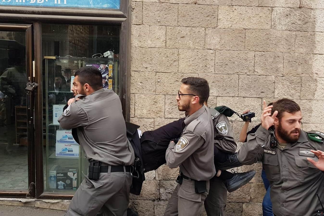 """צפו בקומנדו מא""""ש: המפגין נחטף מהשוטרים"""