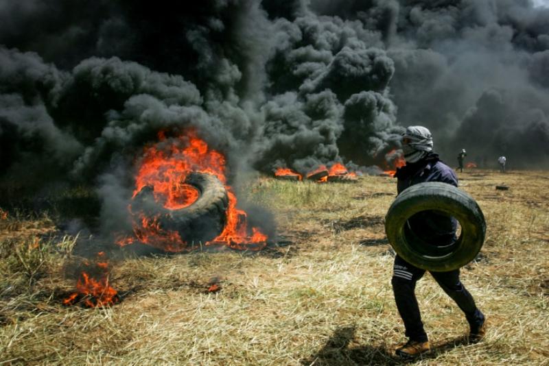 עַזָּה כַמָּוֶת: צפו במהומות בגבול הרצועה