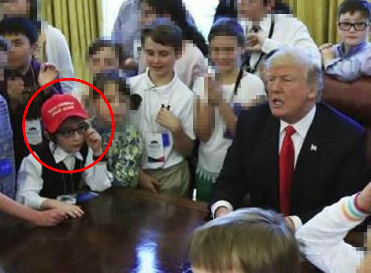 """הילד החסידי בלט בחדרו של נשיא ארה""""ב"""