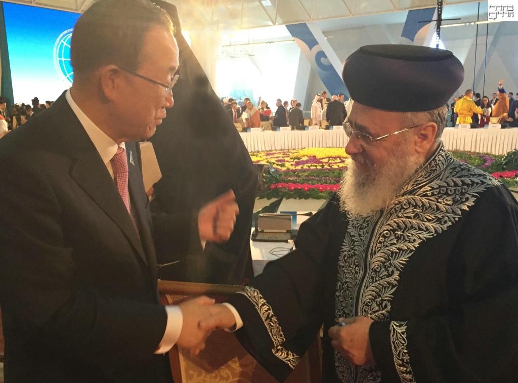 """הגר""""י יוסף למזכ""""ל האו""""ם: מנע חרמות על ישראל"""